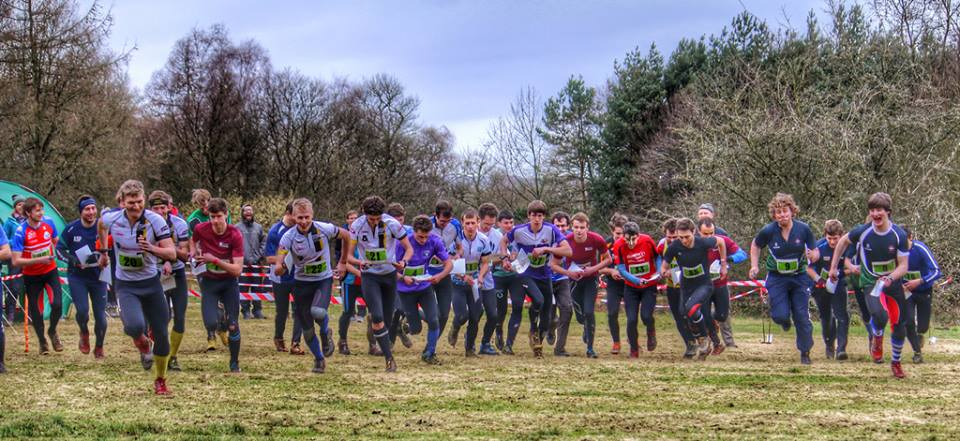 The start of BUCS relays 2014 on The Chevin, near Leeds